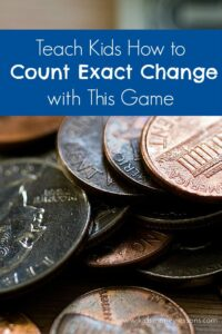 Kids will have fun playing the Exact Change game while also learning the difference between pennies, nickels, dimes, quarters, and bills.