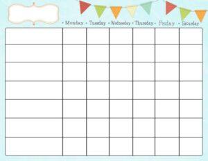 a beautiful mess chore chart