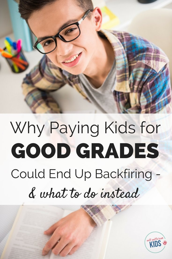 All parents want their kids to get good grades. But did you know that paying kids to get good grades can do more harm than good? Here's what to do instead: #goodgradesrewards #goodgrades