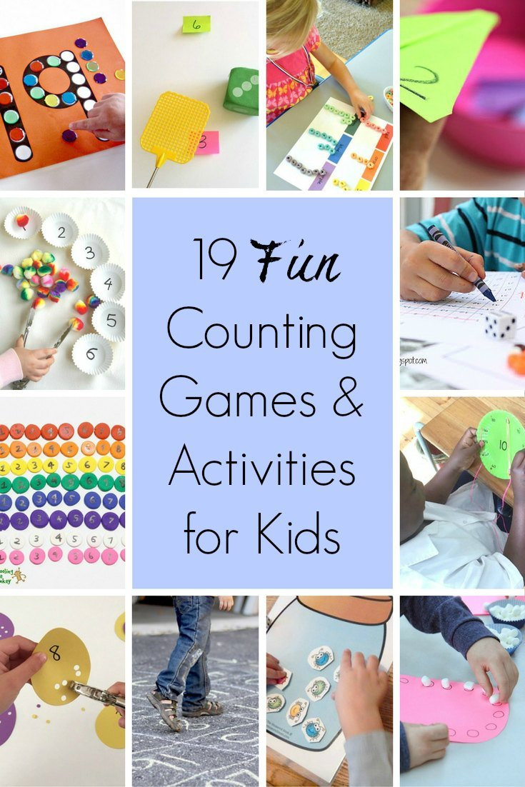 19 Fun Counting Games and Activities for Kids: In order to learn about money, kids first need number recognition and know how to count. But how to make it fun? Here are 19 fun counting games and activities for kids.