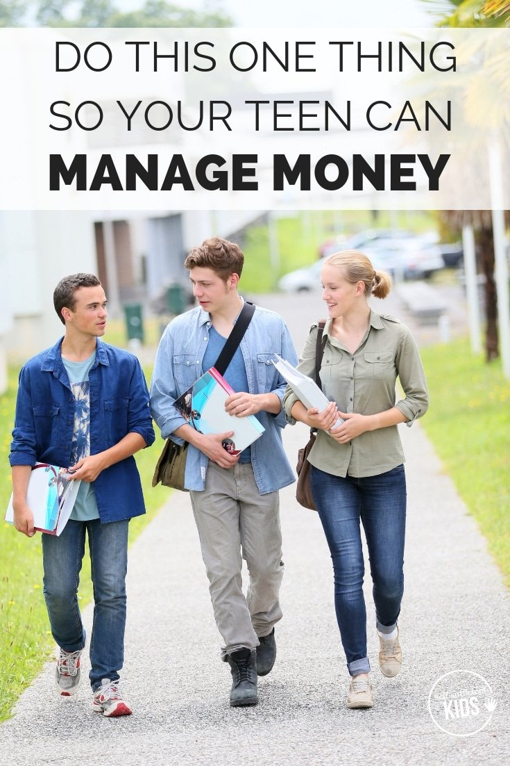 Money management for teens doesn't always come easily. Here's one thing you can do to prepare your teen for financial independence. #moneymanagementteens