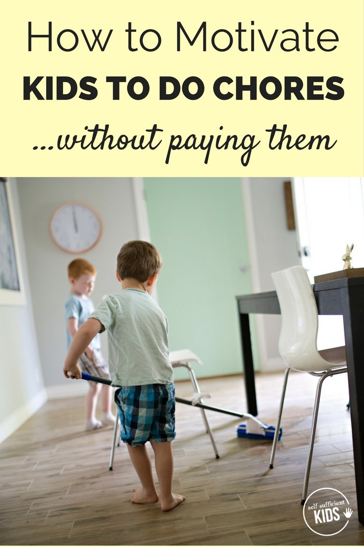 Paying kids for chores doesn't always work, and some research suggests it could do more harm than good. So what does work? Find out here! - How to Motivate Kids to Do Chores (without paying them!) #kidschores