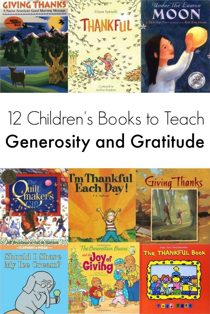 12 Children's Books to Teach Generosity and Gratitude