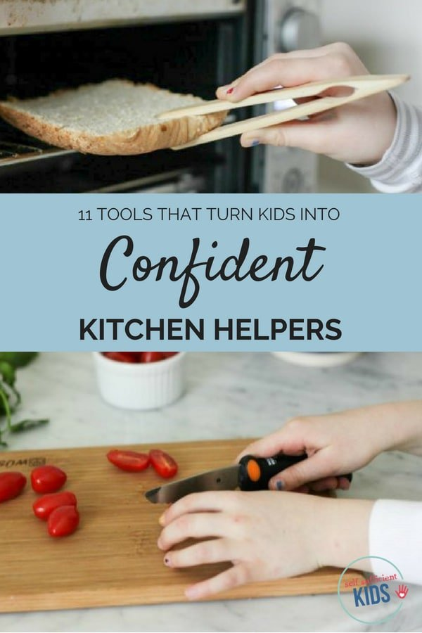 These eleven kitchen tools for kids – made specifically with children in mind – will build your child's cooking confidence and independence.