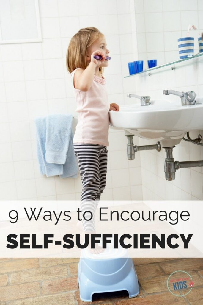 Are you eager to have your young kids do more for themselves? Here's nine ways to encourage self-sufficiency in kids.