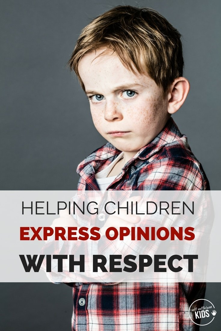 Parents can give kids the practice they need to voice their opinions with respect. Kids talking back to parents.