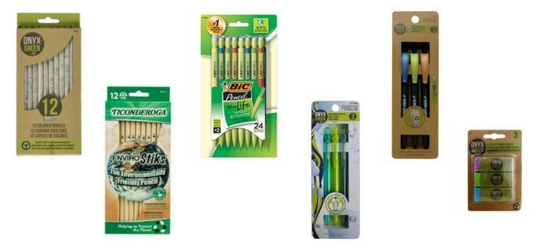 Eco-friendly pens and pencils