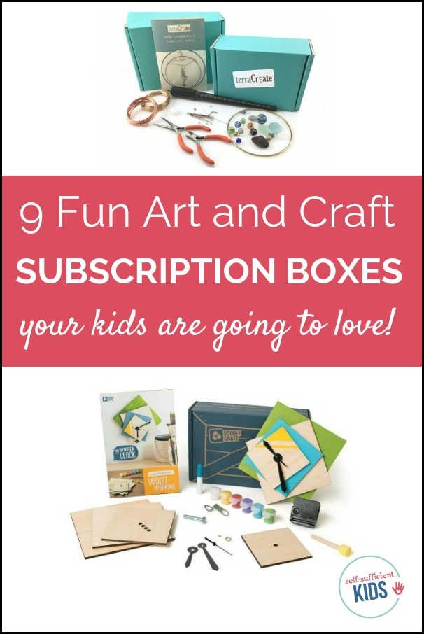 Your children will love these nine art and craft subscription boxes for kids. Each box comes with a prepared craft + a twist to get creative juices flowing. #subscriptionboxesforkids #artsandcrafts #giftsforkids