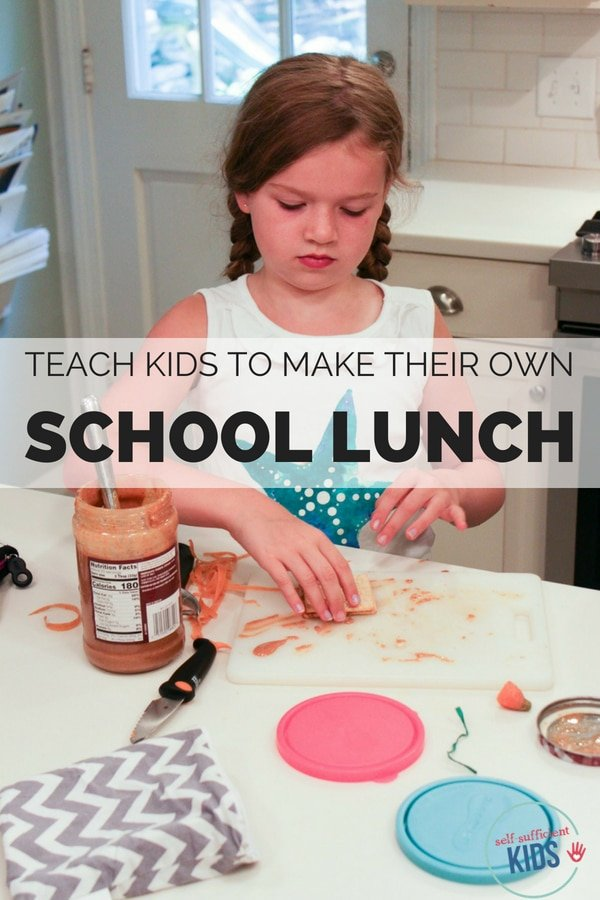 Having kids make their own school lunches teaches them responsibility, time management and how to make healthy eating choices.