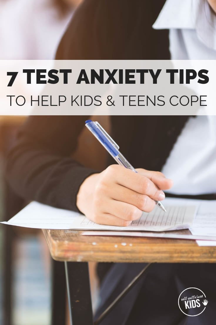teenager child dealing with test anxiety