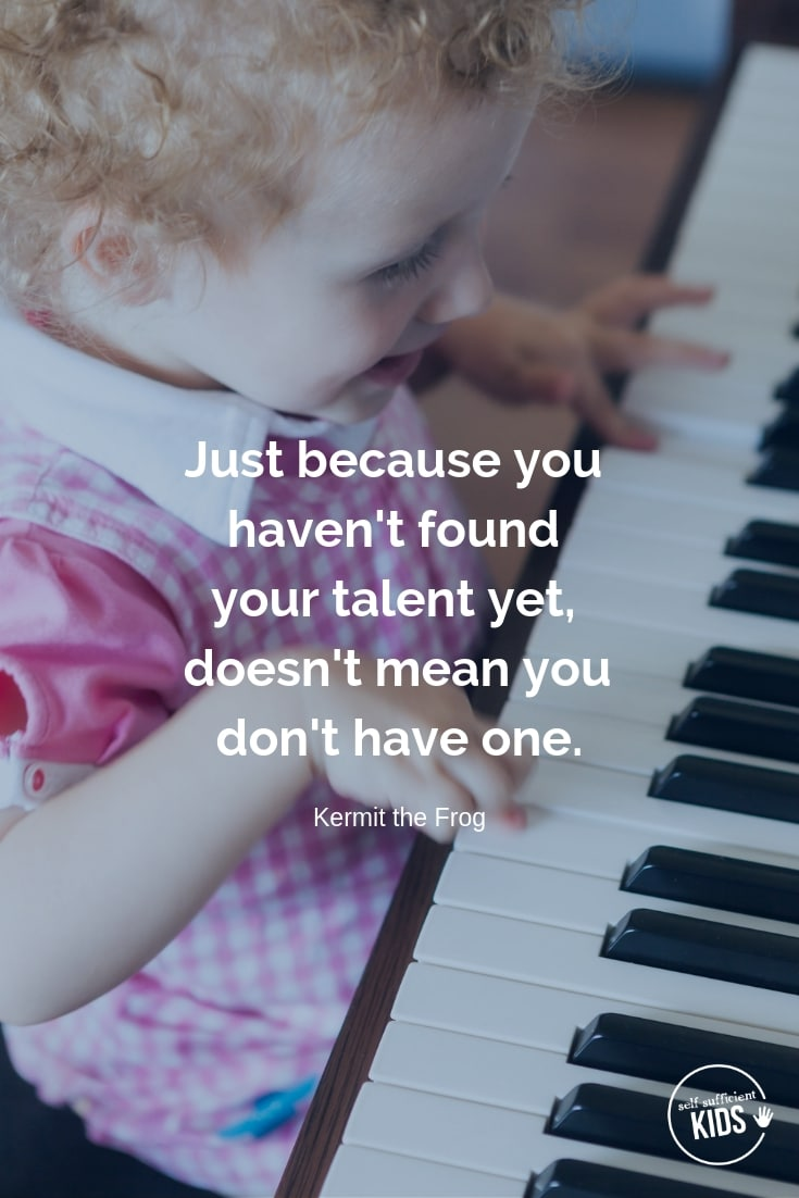 """""""Just because you haven't found your talent yet, doesn't mean you don't have one."""" - Kermitthe Frog These growth mindset quotes will inspire both you and your kids to work hard, not give up, and to view challenges and failures as opportunities. #growthmindset #growthmindsetquotes"""