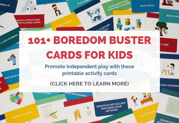 boredom buster cards for kids