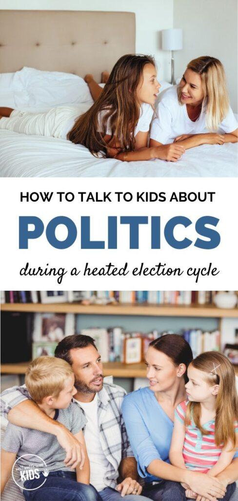 parents talking to kids about politics