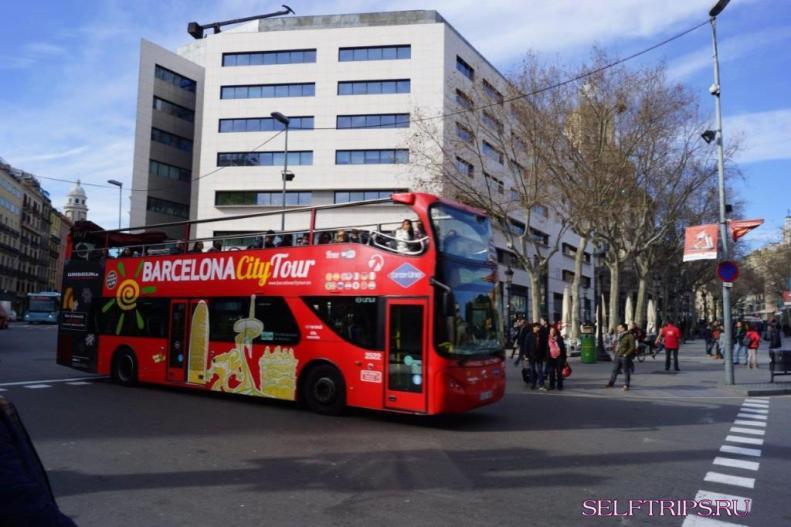 Tour buses Ramblas