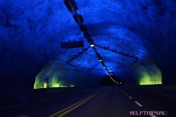 Высокогорная дорога Тиндевеген и Лердальский тоннель