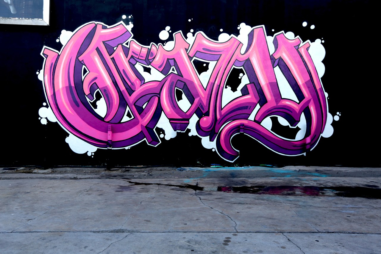 self selfuno graffiti mural letters old english funk crazy video shoot wall hd 1920x1280