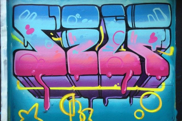 self selfuno graffiti los angeles letters piece melrose october 2014