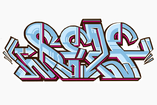 self selfuno graffiti outline piece digital art illustration letters computer rock sketch december 2013