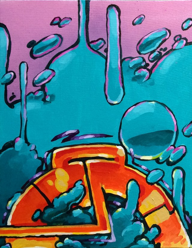 self selfuno painting acrylic canvas 18x14 symbolc gesture 01 image march 2015