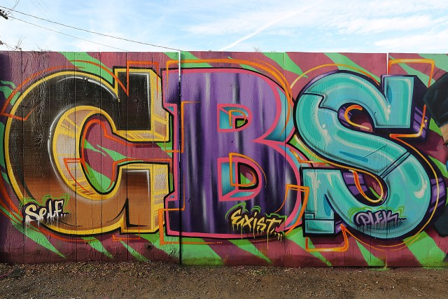 self selfuno plek exist cbs crew graffiti letters melrose alley piece wall march 2014