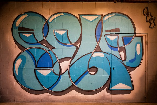 self selfuno selfie postmodern graffiti letters piece dtla los angeles container yard mural art april 2015