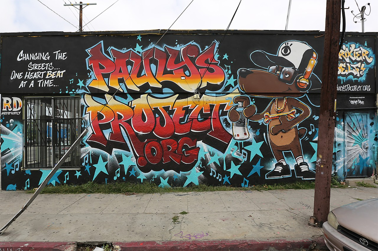 self uno commission paulys project mural trixter selfuno los angeles may 2015