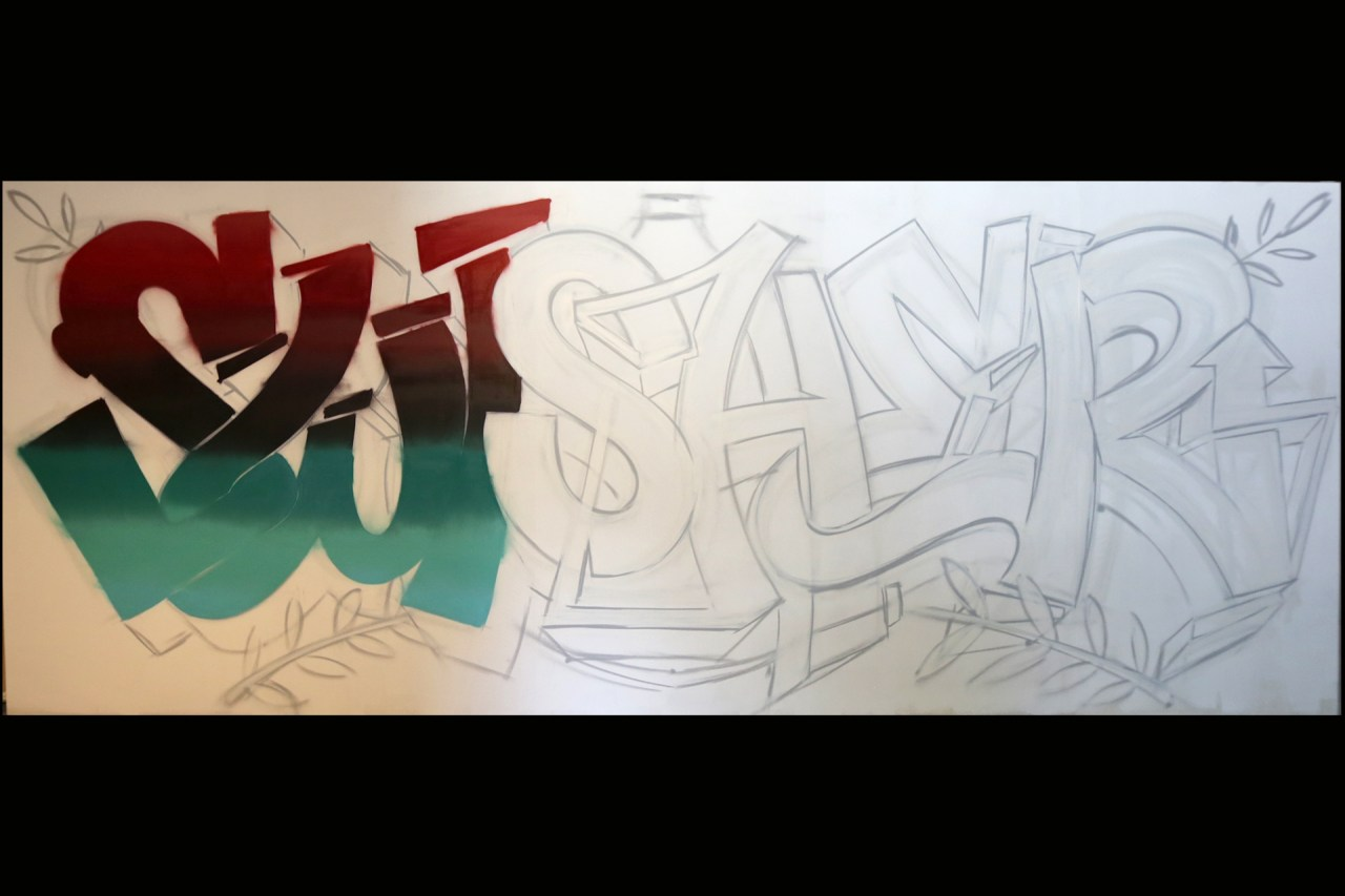 self uno selfuno graffiti artist for hire commission swisher sweets sweeties mural photoshoot progress shots 002