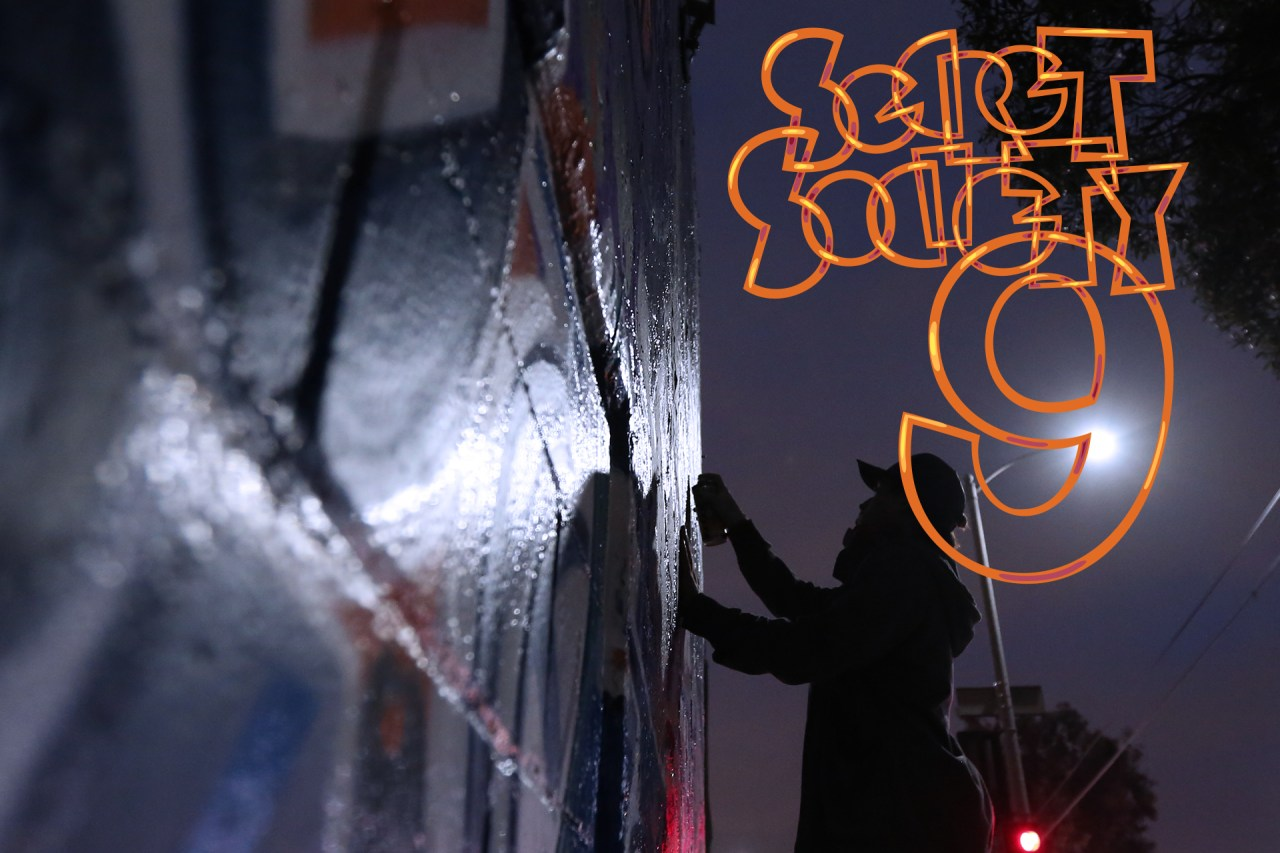 secret society 9 graffiti zine cover photo logo graphic design self selfuno los angeles hollywood silverlake march 2014