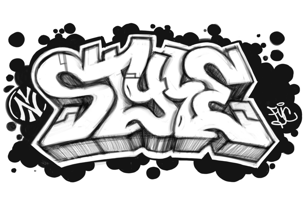 style piece sketch digital letters graphic design logo illustration self uno selfuno art nov 2009