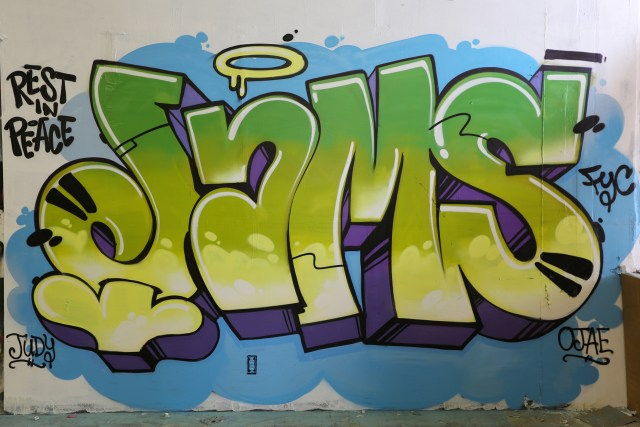 rest in peace jams fyc memorial graffiti piece brooklyn new york city by selfuno october 2015