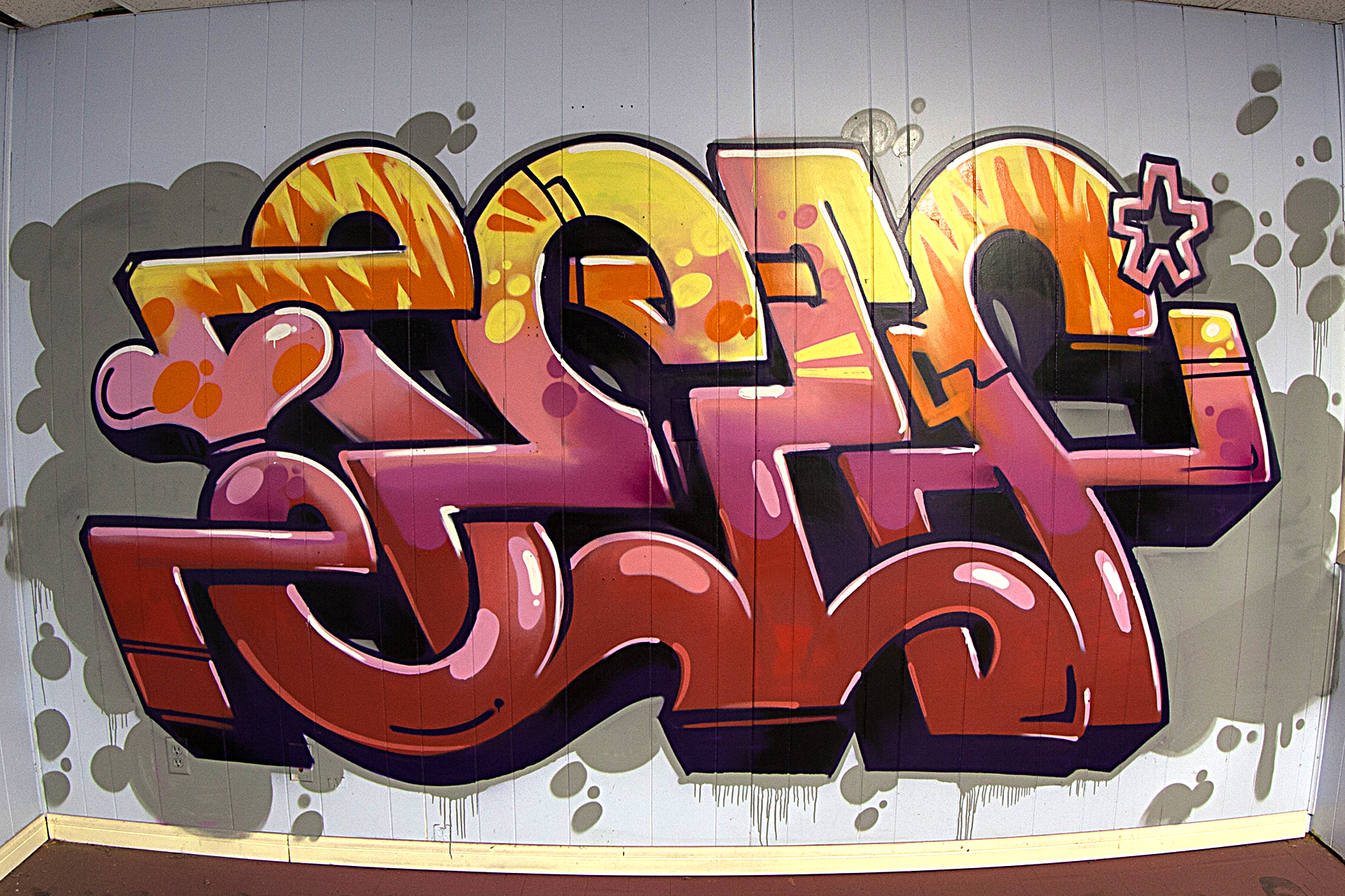 Cool Office Work Selfuno Self Graffiti Mural With Street Wall Painting Hip Hop