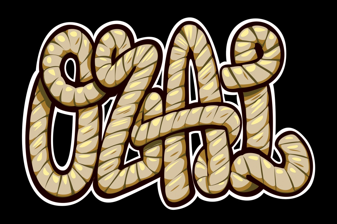 self uno selfuno freelance illustrator los angeles graffiti typography lettering font rope rodeo cowboy lasso script 2015