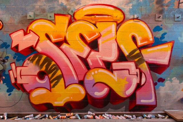 self selfuno graffiti piece letters burner wall tcy dtla january 2016