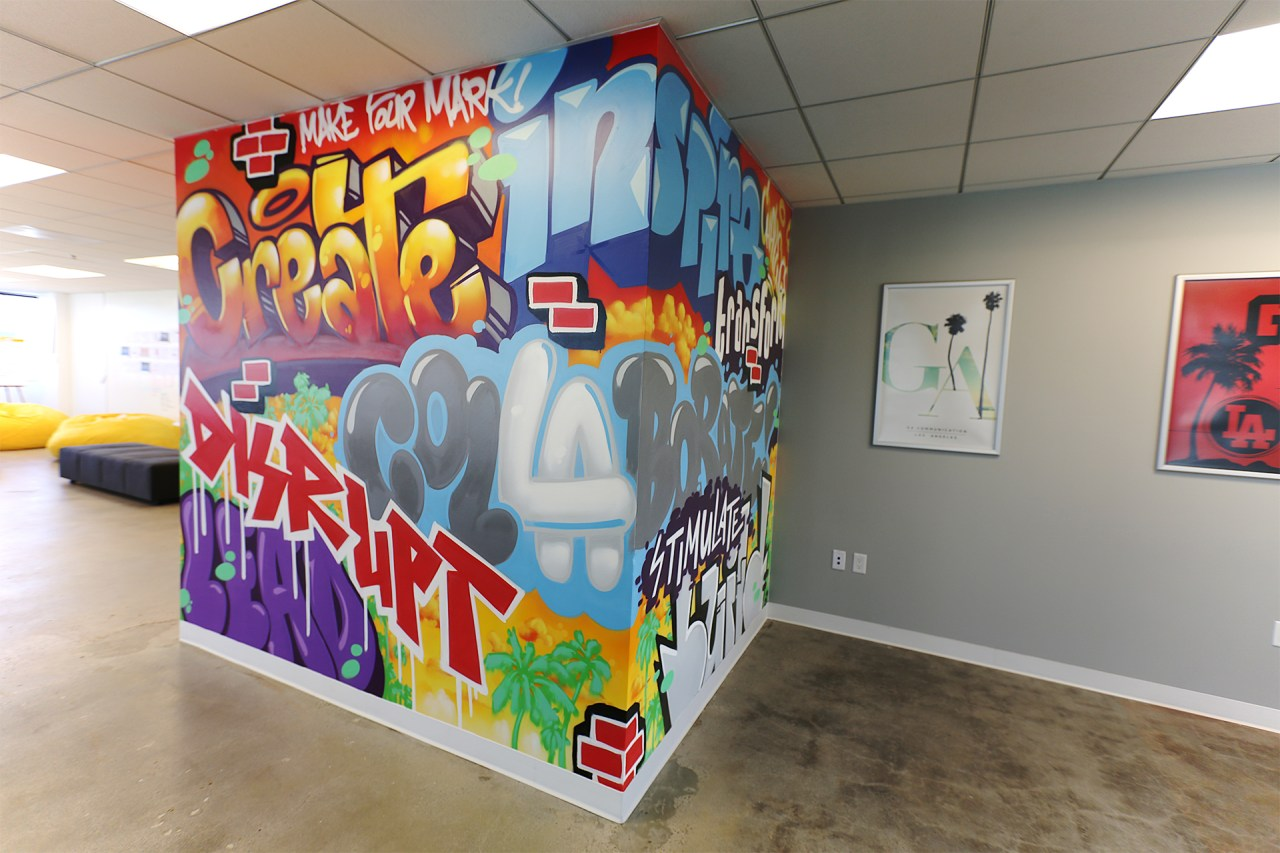 selfuno klughaus gallery graffiti usa sandbox agency graffiti mural june 2016