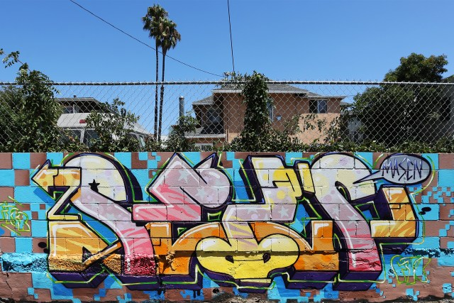 selfuno los angeles graffiti burner wildstyle mid city pico union august 2017