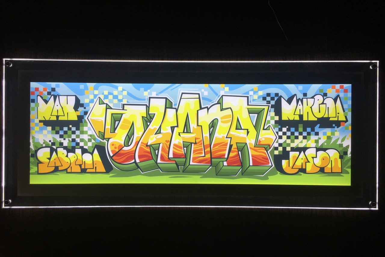 ohana_backlit_lcd_digital_art_custom_graffiti_piece_letters_burner_selfuno_artist