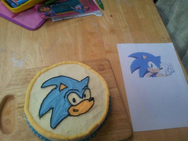 Sonic for Shama's 5th birthday