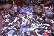 Shoe Vendor at Market