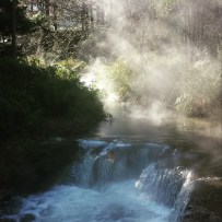 steaming Kerosene creek