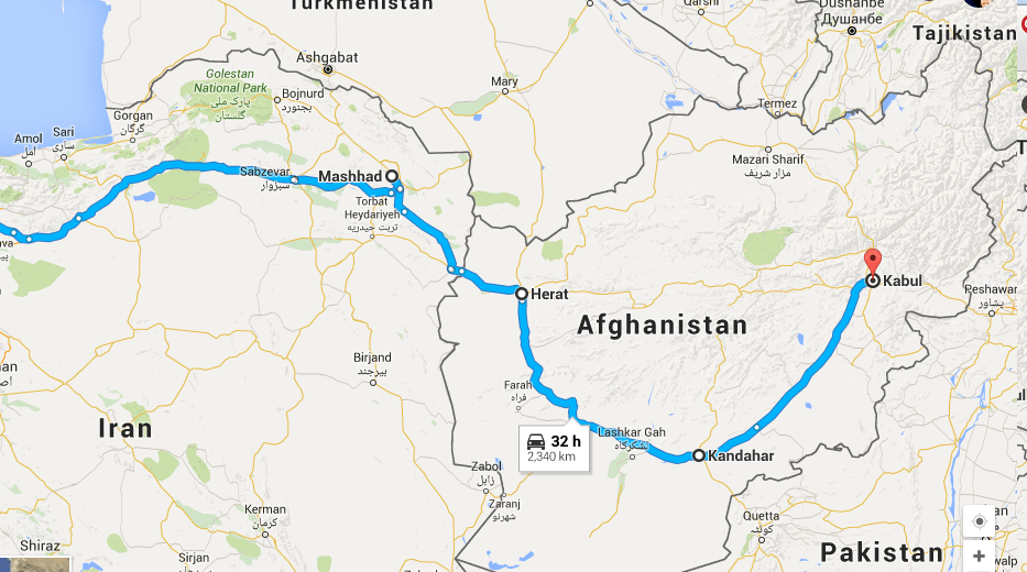 Overland Journey From England To India In Part SELIMS - Where is kabul
