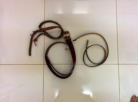 3 belts.