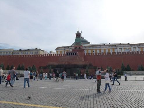 The red square. Lenin's mausoleum.
