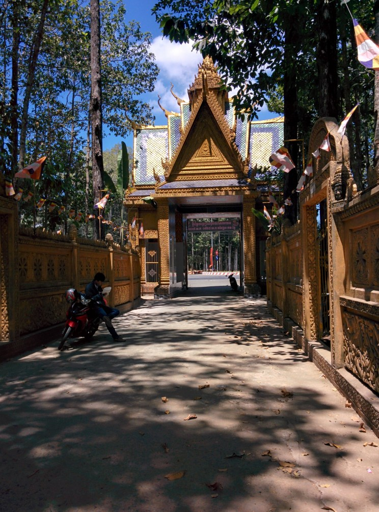Visiting a Khmer Temple in Tra Vinh.
