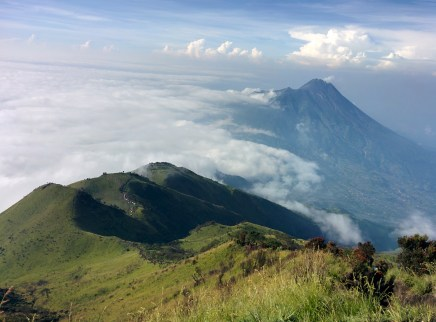 The view from the top of Mount Merbabu