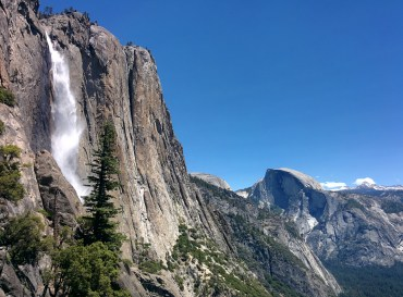 A view of Upper Yosemite Falls. Right before the ascent to the top of the falls.
