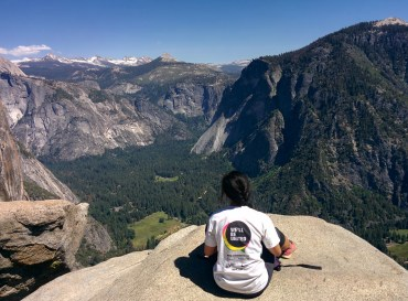 View from the very top of the Upper Yosemite Falls hike.