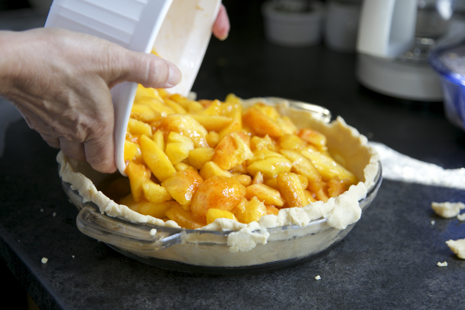 photo of baking homemade apple pie