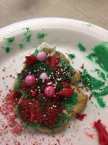 photo of decorated cookie from Christmas open house