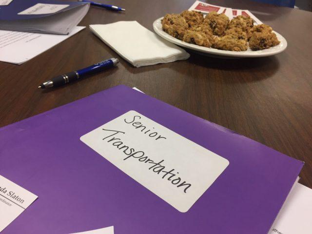 photo of volunteer orientation for senior transportation program