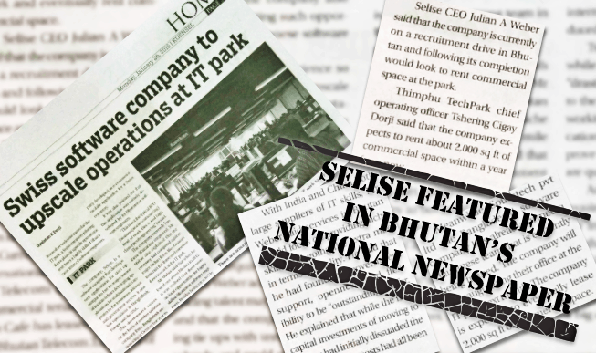 SELISE featured in Kuensel